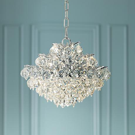 "Vienna Full Spectrum Essa 12"" Wide Chrome - Crystal Pendant"