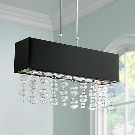 Possini Euro Design Bubble Cascade Rectangular Pendant