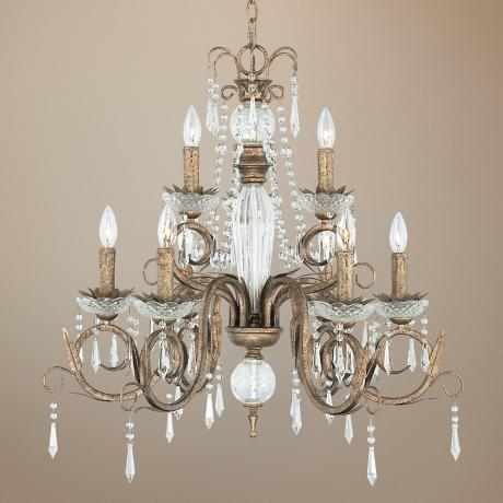 "Kathy Ireland European Treasure 28 1/4"" Crystal Chandelier"