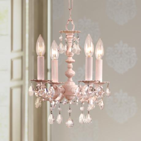 "Crystorama Angelina Blush 12"" High Mini Chandelier"