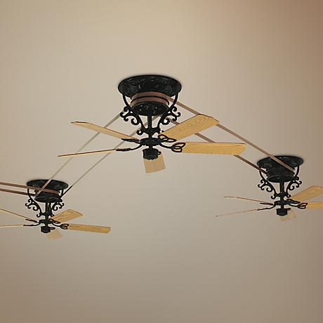 Fanimation Bourbon Street 4-Piece Black Ceiling Fan Set