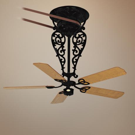"36"" Fanimation Bourbon Street Belt-drive Black Ceiling Fan"