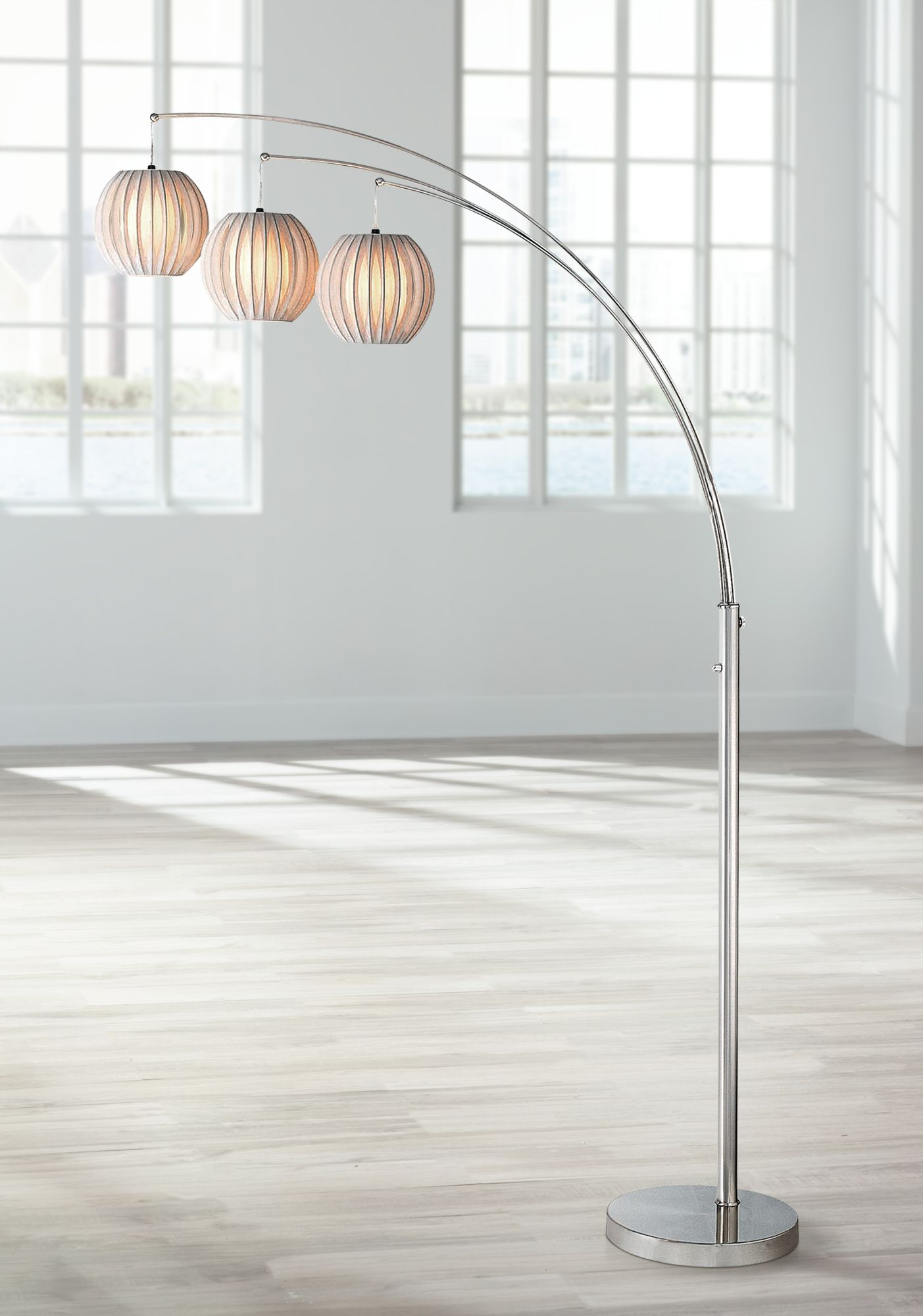 lite source deion 3light hanging arc floor lamp