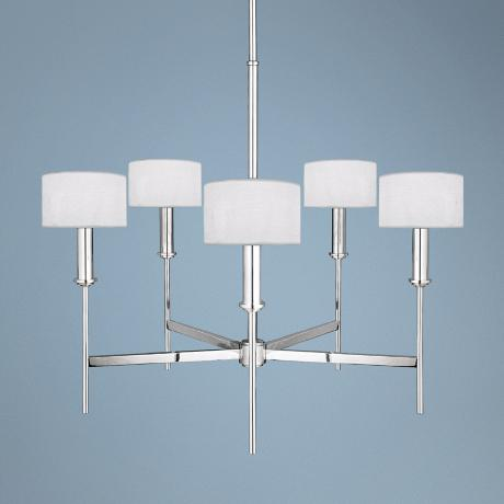 Ferrara Polished Silver 5-Light Chandelier