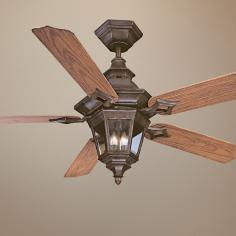 "52"" Savoy House Chatsworth Walnut Patina Ceiling Fan"