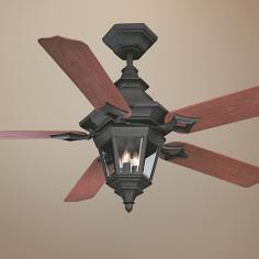 "52"" Savoy House Chatsworth Horseshoe Black Ceiling Fan"