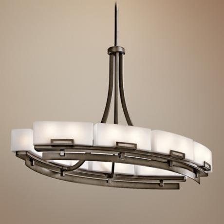 Kichler Leeds 12-Light Oval Large Modern Chandelier