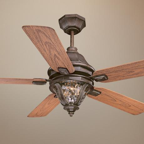 "52"" Savoy House Montecello Walnut Patina Ceiling Fan"