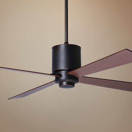 "42"" Period Arts Lapa Bronze Mahogany Ceiling Fan"
