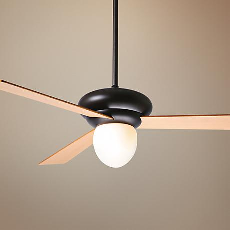 "42"" Period Arts Atlus Bronze Maple Opal Ceiling Fan"