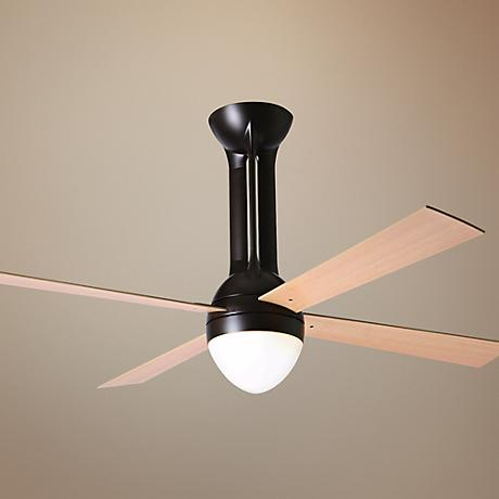 "52"" Period Arts Eclipse Bronze Maple Light Kit Ceiling Fan"
