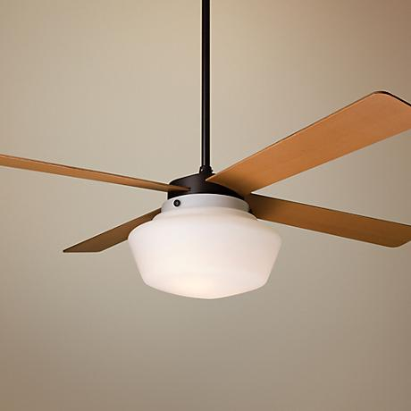 "52"" Period Arts Schoolhouse Ceiling Fan"