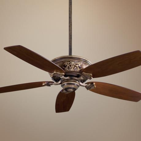 "54"" Minka Aire Classica Patina Iron Finish Ceiling Fan"