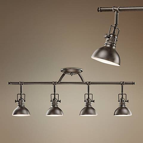 "Kichler Old Bronze 31 1/2"" Wide Swivel Ceiling Fixture"