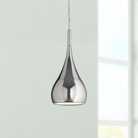 Possini Raindrop Chrome Finish Mini Pendant Light