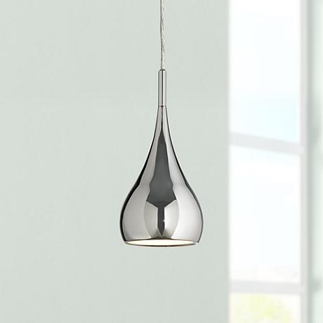 possini euro raindrop chrome finish mini pendant light n3650. Black Bedroom Furniture Sets. Home Design Ideas