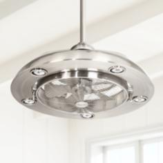 Possini Segue Brushed Nickel Finish 5-Light Ceiling Fan