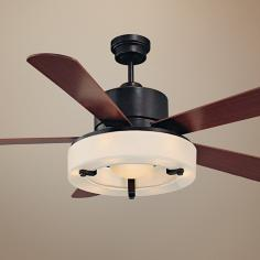 "56"" Savoy House Olympic English Bronze Ceiling Fan"
