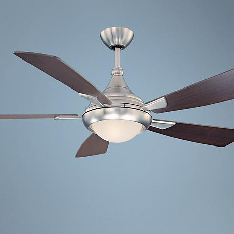 "54"" Savoy House Zephyr Satin Nickel Finish Ceiling Fan"
