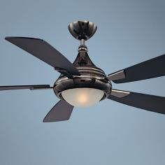 "54"" Savoy House Zephyr Mercury Black Finish Ceiling Fan"