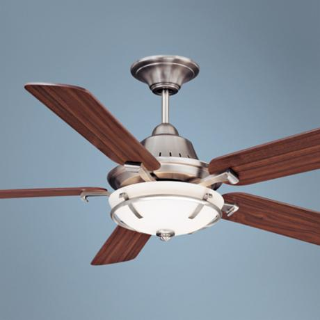 "52"" Savoy House Big Canoe Satin Nickel Ceiling Fan"