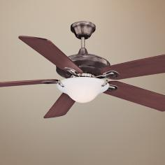 "52"" Savoy House Macon Brushed Pewter Finish Ceiling Fan"