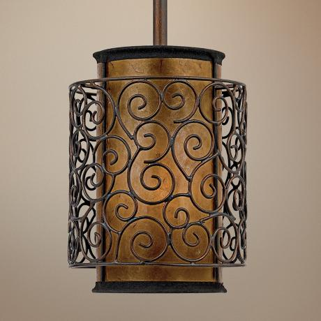 Quoizel Naturals Mica Swirls Mini Pendant Light