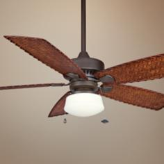 "52"" Cancun Oil-Rubbed Bronze Ceiling Fan with Light Kit"