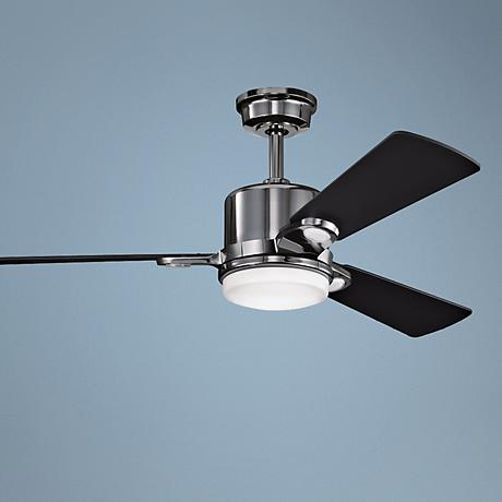 "48"" Kichler Celino Midnight Chrome  Ceiling Fan"