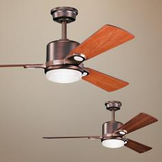 "48"" Kichler Celino Oil Brushed Bronze Ceiling Fan"