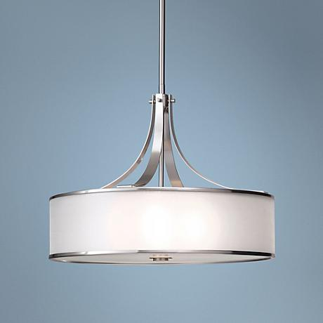 "Feiss Casual Luxury Brushed Steel 22"" Wide Chandelier"