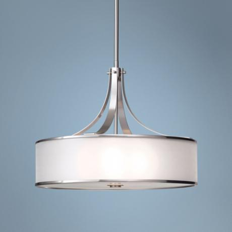 "Murray Feiss Casual Luxury Brushed Steel 22"" Wide Chandelier"