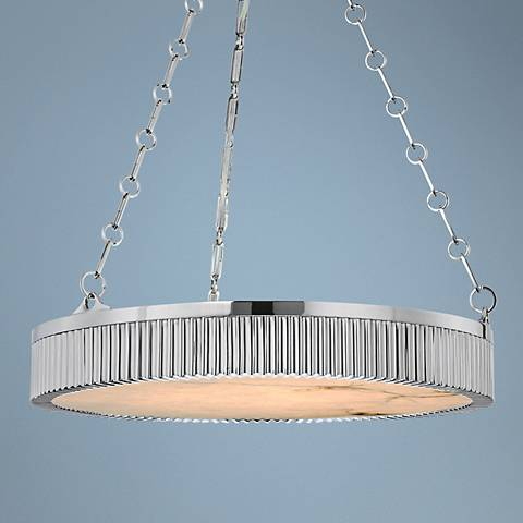 "Hudson Valley Lynden 22"" Wide Polished Nickel Pendant Light"