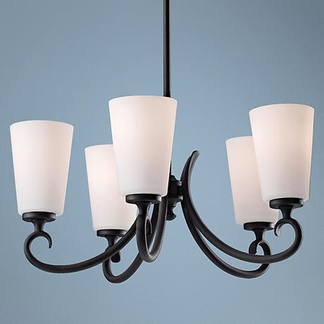 "Feiss Peyton 21"" Wide 5-Light Pendant Chandelier"
