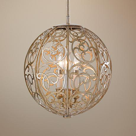 "Feiss Arabesque 14"" Wide Pendant Chandelier"