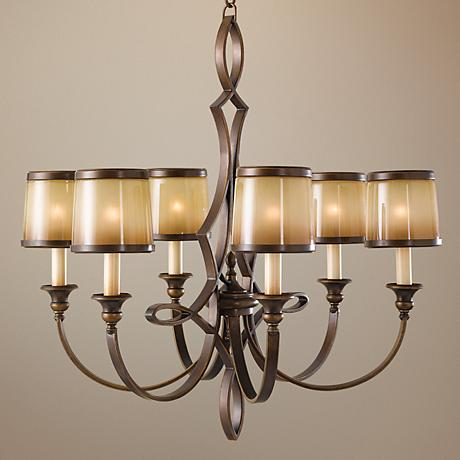 "Feiss Justine 27 3/4"" Wide 6-Light Chandelier"