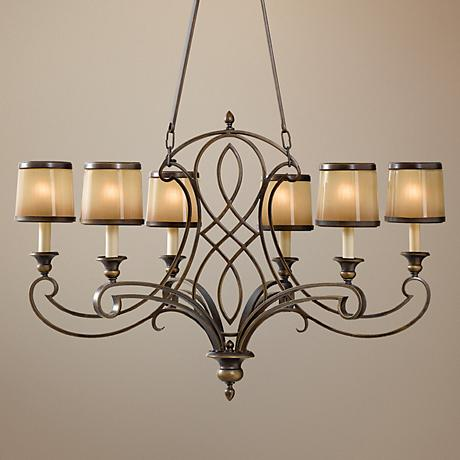"Feiss Justine 36"" Wide 6-Light Chandelier"