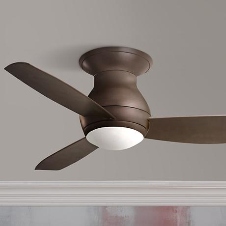 "44"" Emerson Curva Sky Bronze Hugger Ceiling Fan"