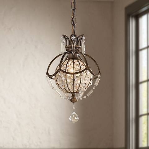 "Feiss Bellini Collection 8 3/4"" Wide Mini Chandelier"