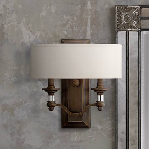 "Hinkley Sussex 14"" High English Bronze Wall Sconce"