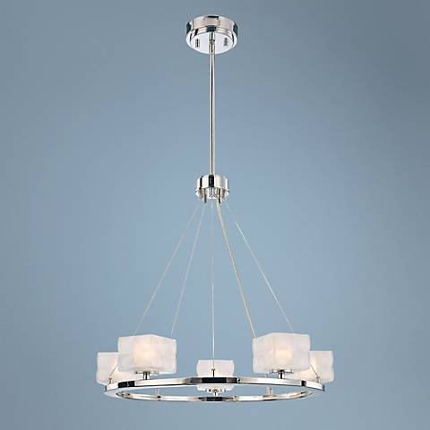 "George Kovacs Squared 23"" Wide Pendant Light"