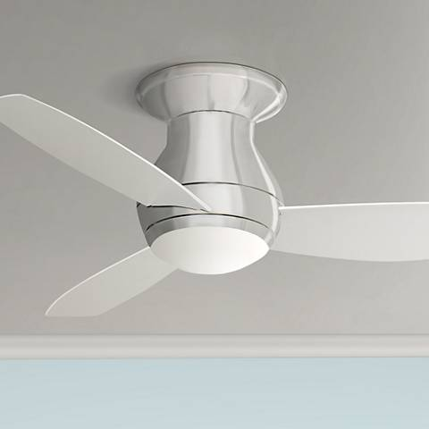 "44"" Emerson Curva Sky Brushed Steel Ceiling Fan"