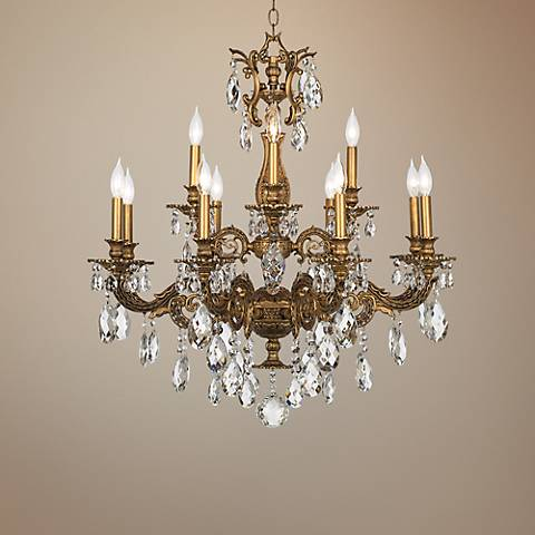 "Schonbek Milano 32 1/2"" Wide Large Crystal Chandelier"