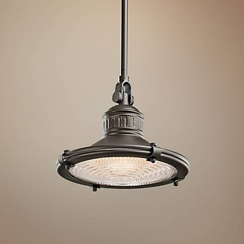 "Kichler Sayre 10"" Wide Olde Bronze Mini Pendant Light"