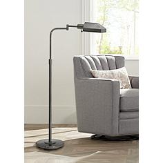 House of Troy Oiled Bronze Adjustable Pharmacy Floor Lamp