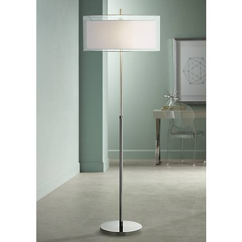Seeri 2-Tone Adjustable Height Floor Lamp
