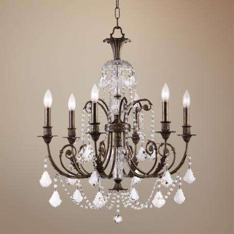"Crystorama Regis English Bronze 26"" Wide Chandelier"