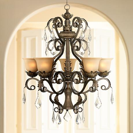 "Kathy Ireland Ramas de Luces Bronze 31"" Wide Chandelier"