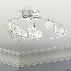 "Possini Euro New Orbit Chrome 23 3/4"" Wide Ceiling Light"