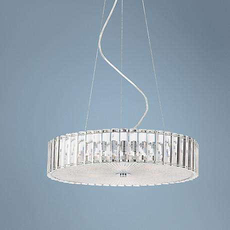 "Possini Euro Modern Clear Glass Fluted 18 3/4""W Chandelier"
